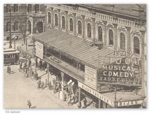 The Bijou Theater, Atlanta, Georgia -- ironically, adjacent to where Leo Frank Trial was held